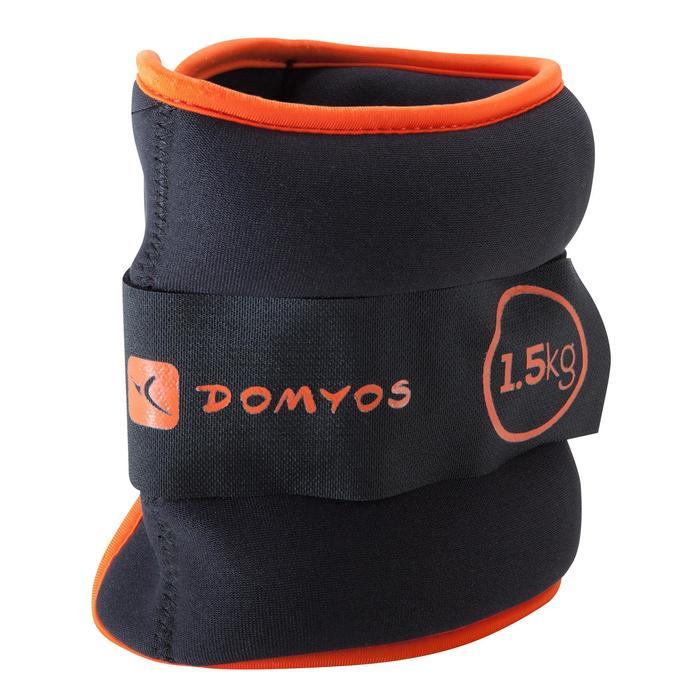 Verstelbare pols- en enkelgewichten pilates figuurtraining 2 x 1,5 kg