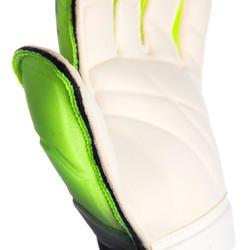 Gant de gardien de football F900 couture plate shielder adulte noir et jaune