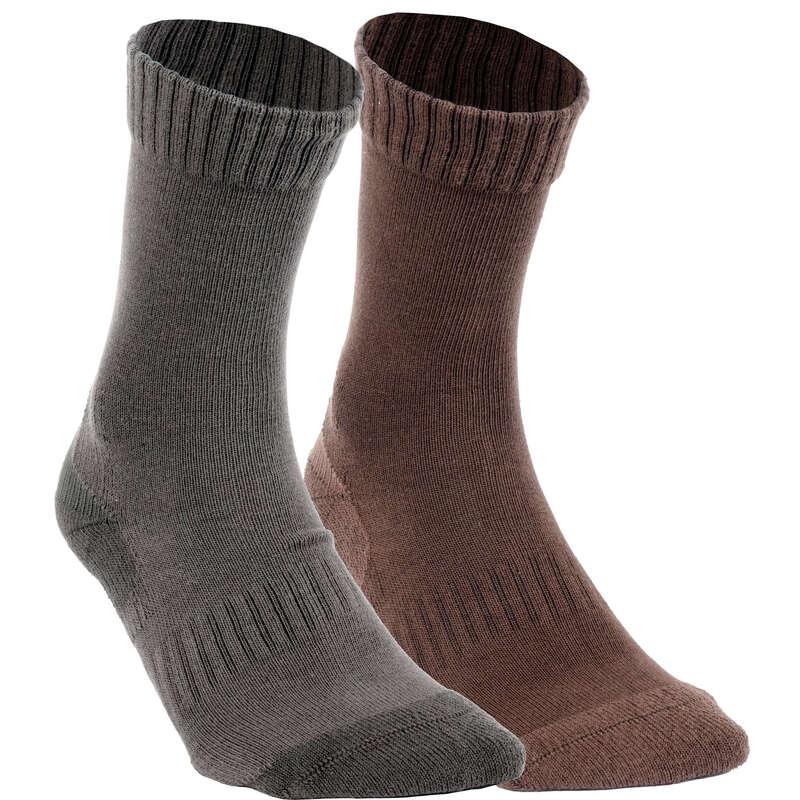 PONOŽKY Myslivost a lovectví - PONOŽKY ACT 100 2 PÁRY SOLOGNAC - Myslivecká obuv a ponožky
