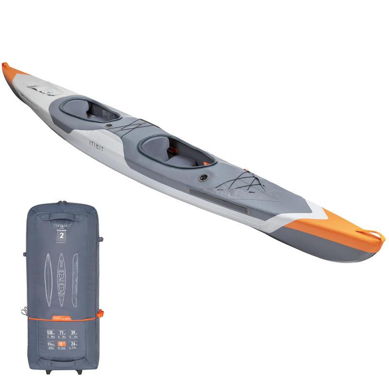 Kayak Hinchable Itiwit Strenfit X500 Drop Stitch Alta Presión 2 Plazas