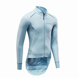 VESTE VELO ROUTE RACER TEMPS FROID LIGHT BLUE
