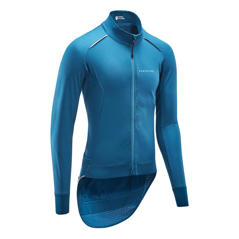 Giacca invernale ciclismo RACER blu elettrico