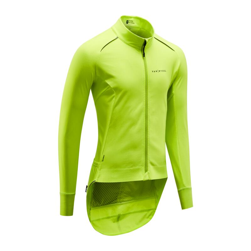 Road Cycling Winter Jacket Racer - Yellow