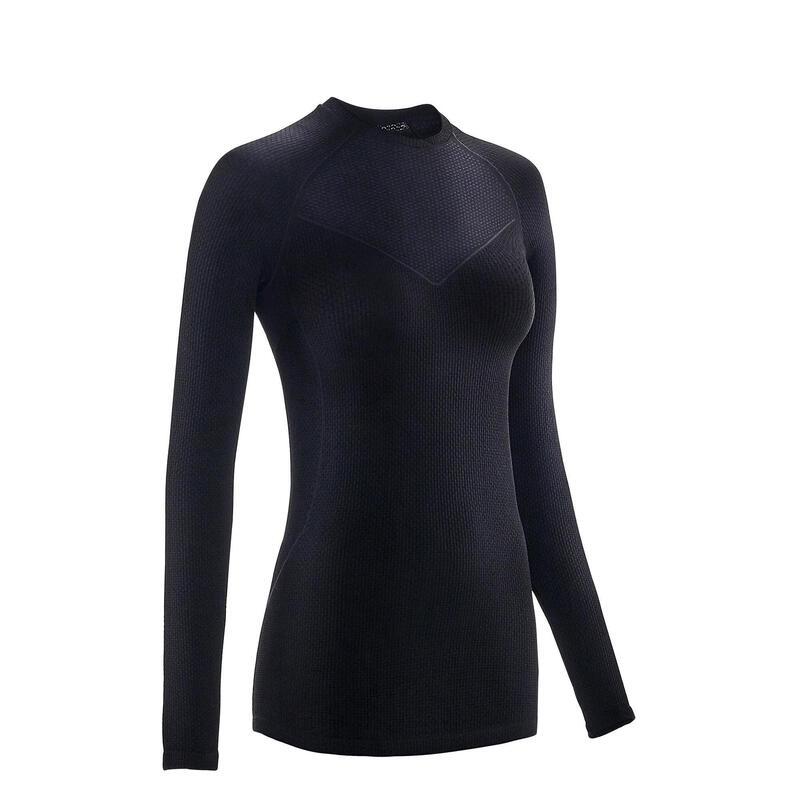 Women's Long-Sleeved Sport Cycling Base Layer - Black