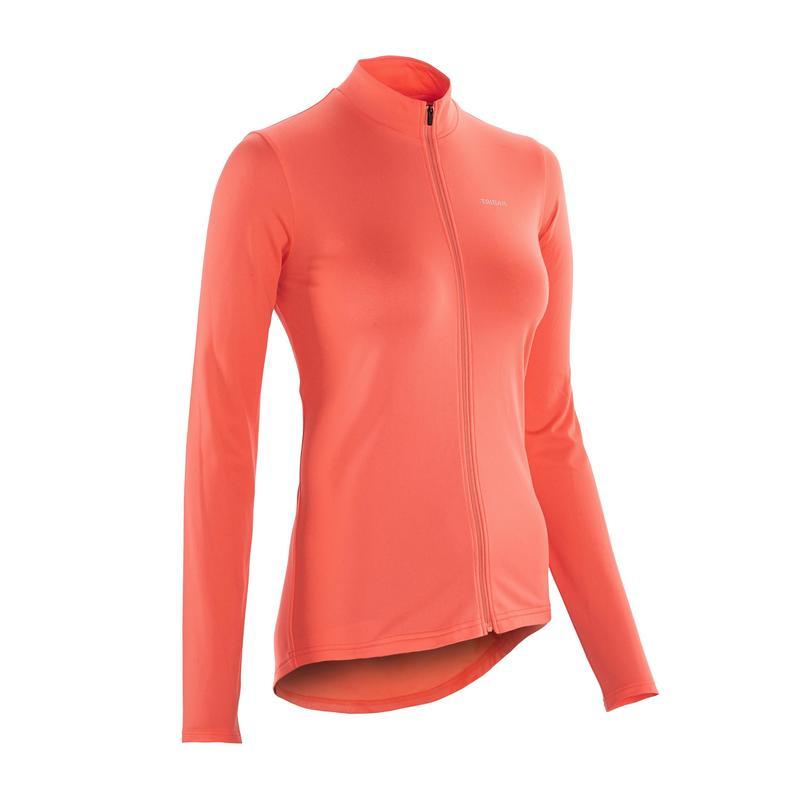 100 long-sleeved road cycling jersey - Women