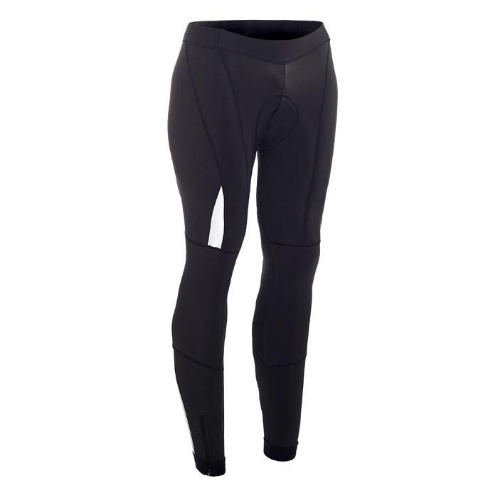 Lange fietsbroek zonder bretels voor heren koud weer RC520 zwart