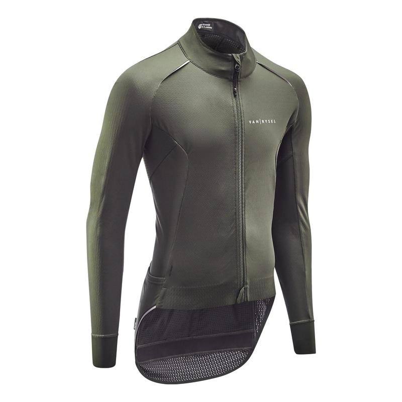 Giacca invernale ciclismo RACER verde militare