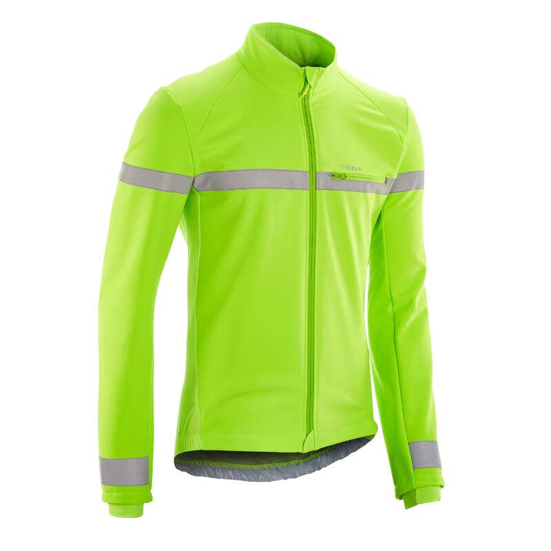 PÁNSKÉ OBLEČENÍ NA SILNIČNÍ CYKLISTIKU ZA CHLADNÉHO POČASÍ Cyklistika - CYKLISTICKÁ BUNDA RC100 EN1150 TRIBAN - Helmy, oblečení, obuv