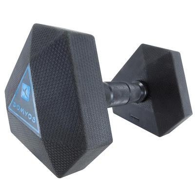 Mancuerna Hexagonal HEX Dumbbell 7,5 kg. Domyos Musculación Cross Fitness