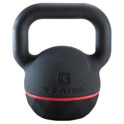 Kettlebell Cross Training Musculación Domyos 20 Kg Negro/Rojo