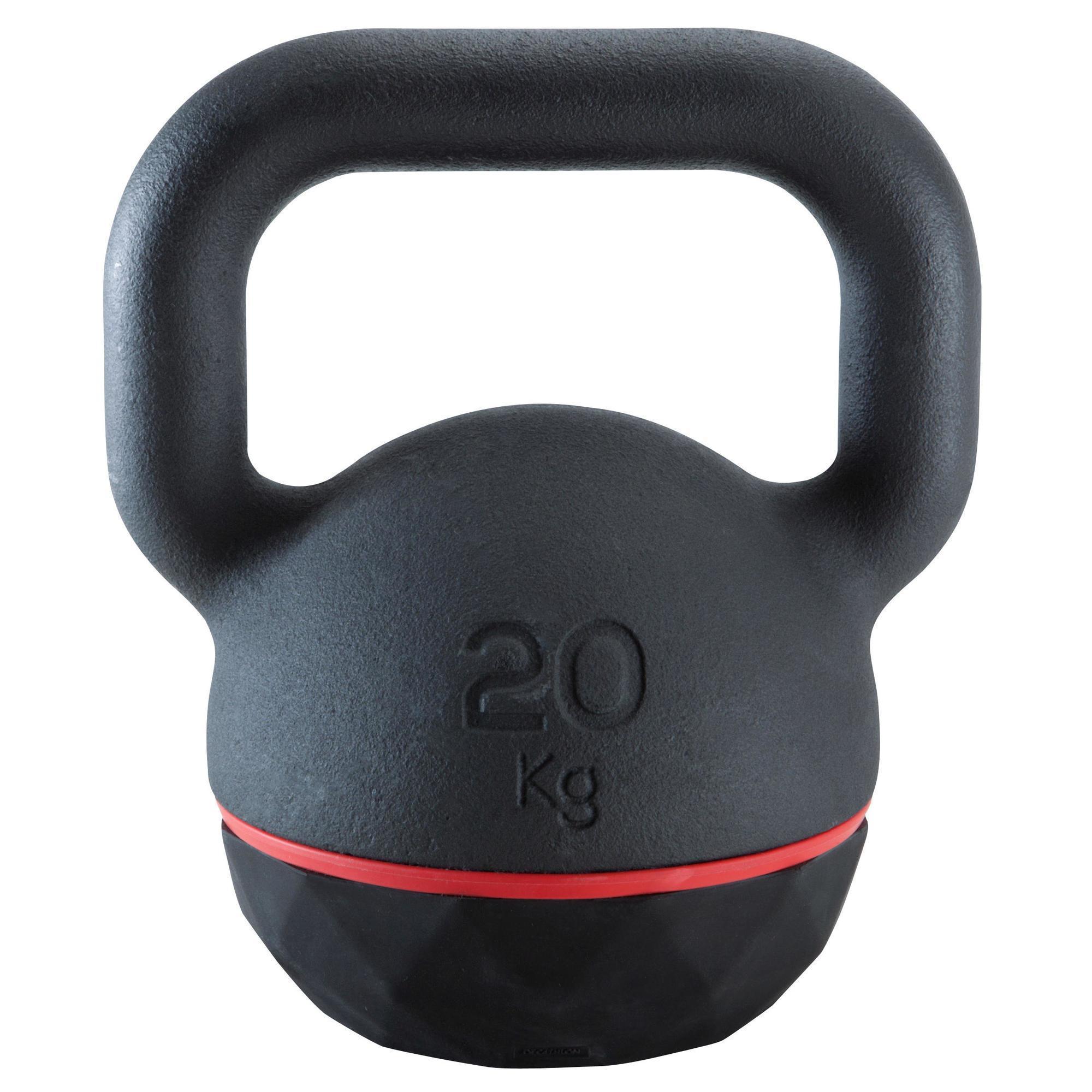 Kettlebell Pesa Rusa 20kg. Domyos Cross Fitness Musculación