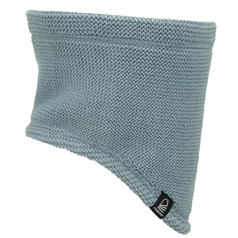 Kids' sailing neck warmer SAILING 100 - light grey
