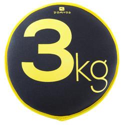 Soepele halter Sand Disc gym 3 kg - 188483