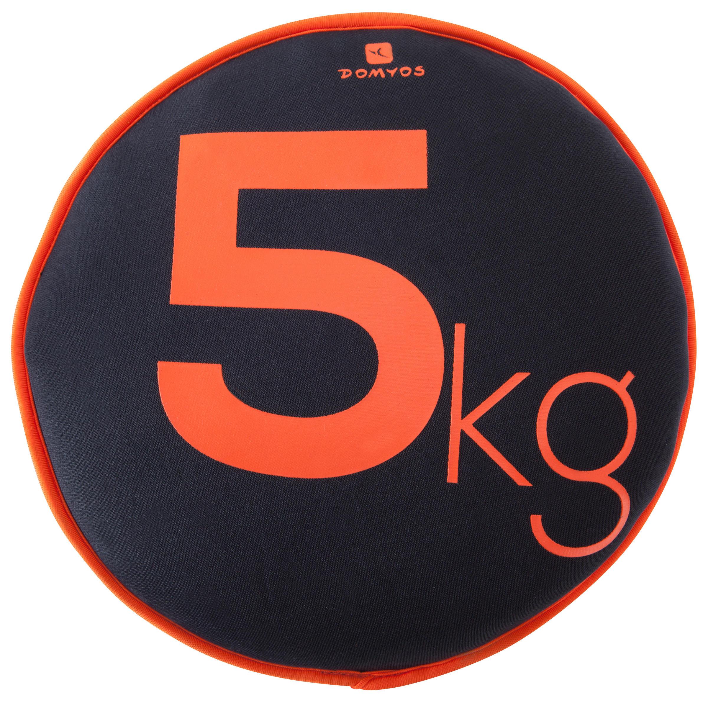 domyos soepele schijf met gewicht gym 5 kg. Black Bedroom Furniture Sets. Home Design Ideas