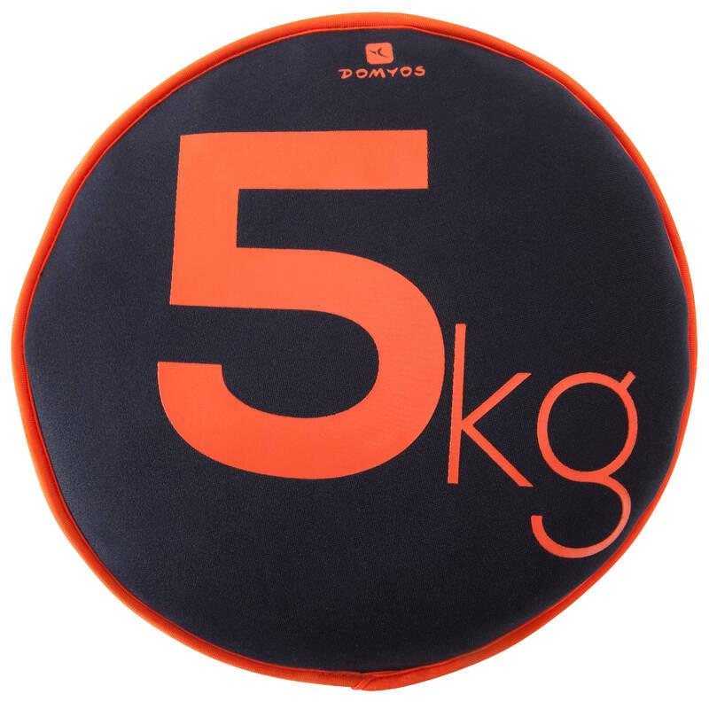 VYBAVENÍ NA POSILOVÁNÍ Fitness - MĚKKÉ POSILOVACÍ ZÁVAŽÍ 5 KG NYAMBA - Příslušenství na cvičení a pilates