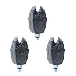 SET de 3 détecteurs de touche pêche de la carpe XSM BLUE PACK