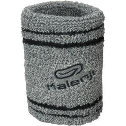 Badstof polsband met zakje voor hardlopen grijs