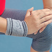 RUNNING TERRY WRISTBAND - GREY
