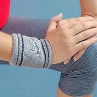 Running wristband key pocket - grey