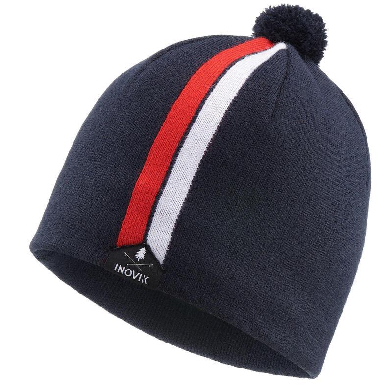 Bonnet ski de fond 100 - Bleu noir - adulte