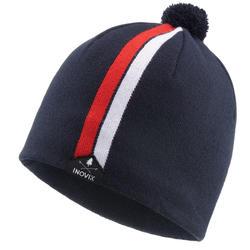 Bonnet de ski de fond 100 - Bleu noir - adulte