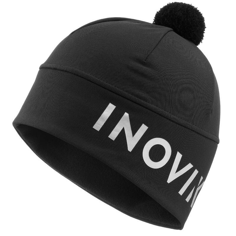 Bonnet ski de fond noir à pompon - XC S bonnet 500 - ADULTE