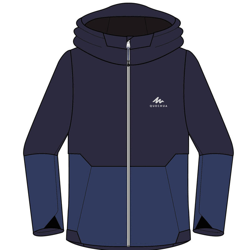 Giacca montagna bambino 7-15 anni MH500 blu
