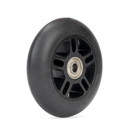 1x100mm skrejriteņa ritenis ar gultņiem, melns