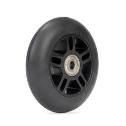 1 roue de trottinette 100mm noire avec roulements