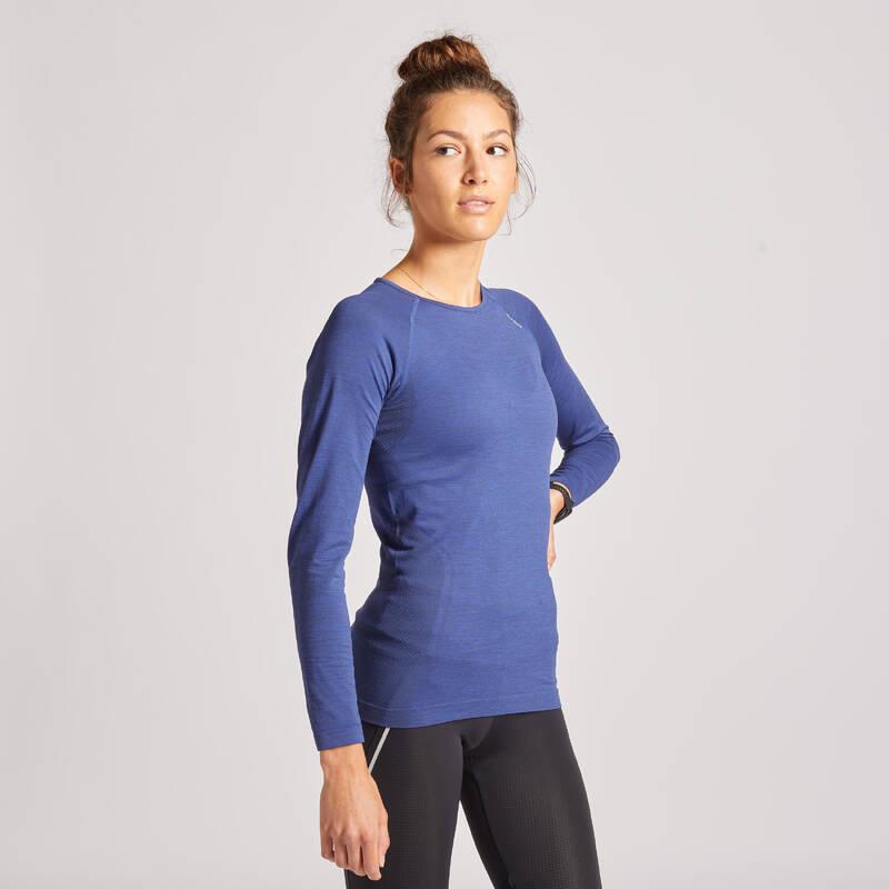 DÁMSKÉ BĚŽECKÉ OBLEČENÍ NA BĚH PO SILNICI Běh - BĚŽECKÉ TRIČKO SKINCARE  KIPRUN - Běžecké oblečení