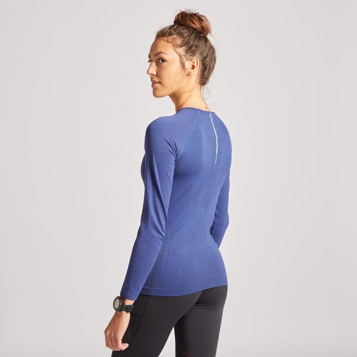 Ademend hardloopshirt met lange mouwen voor dames Skincare Light blauw
