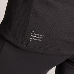 Hardloopshirt met lange mouwen voor dames Warm Light winter zwart
