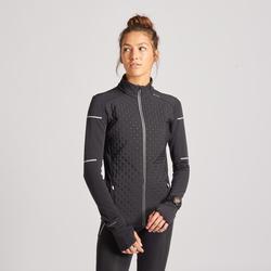 女款保暖冬季跑步外套KIPRUN黑色
