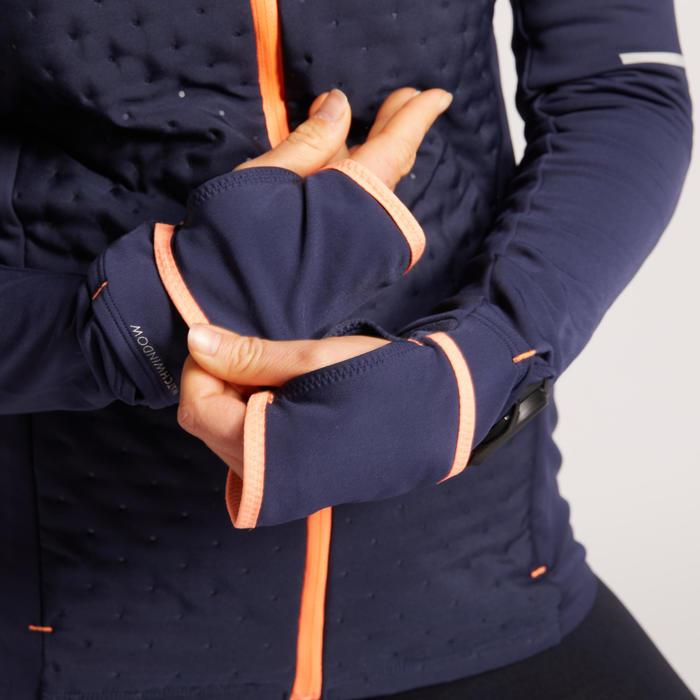VESTE RUNNING HIVER FEMME CHAUDE KIPRUN WARM BLEU CORAIL