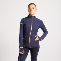 KIPRUN WARM WOMEN'S WINTER RUNNING JACKET CORAL