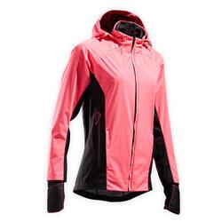 VESTE RUNNING FEMME KIPRUN WARM REGUL ROSE FLUO