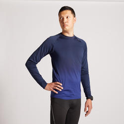 KIPRUN CARE MEN'S LONG-SLEEVED RUNNING T-SHIRT BLUE