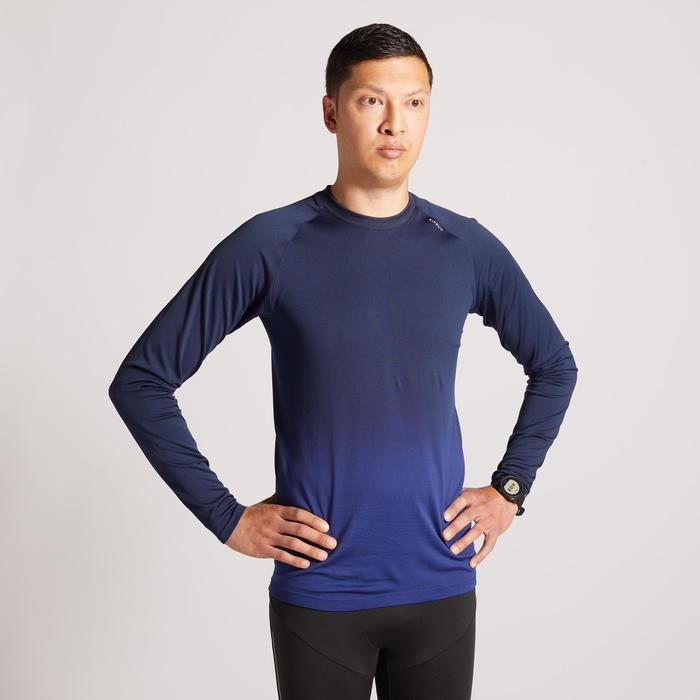 男款跑步長袖T恤KIPRUN CARE - 藍色