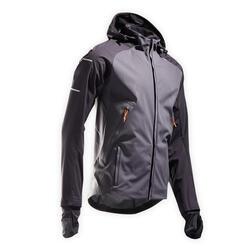Giacca invernale running uomo KIPRUN WARM REGUL grigio-nero