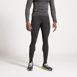 KIPRUN WARM MEN'S RUNNING TIGHTS BLACK