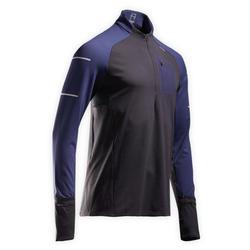 Hardloopshirt met lange mouwen voor heren Warm Light winter zwart/blauw