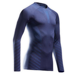 Kiprun Skincare Men's Running Winter Breathable LS Tee-Shirt - Navy Blue