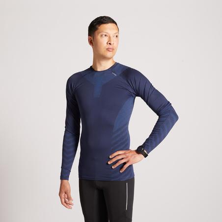 T-shirt de course Kiprun Skincare à manches longues – Hommes