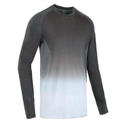 KIPRUN CARE MEN'S LONG-SLEEVED RUNNING T-SHIRT - GREY