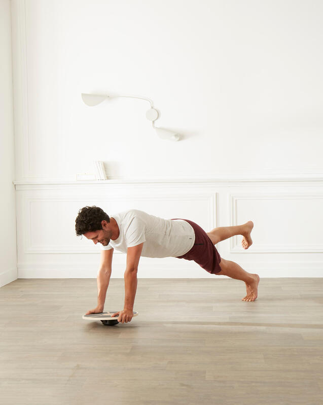 Pilates Stretching Balance Board 500 - Brown/Black