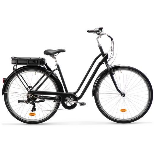 E-Bike City Bike 28 Zoll Elops 120E schwarz
