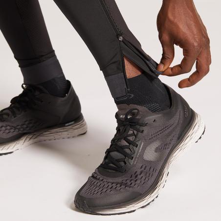KIPRUN DRY MEN'S BREATHABLE RUNNING TIGHTS - BLACK