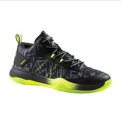 Basketbalschoenen voor heren SC500 halfhoog grijs groen