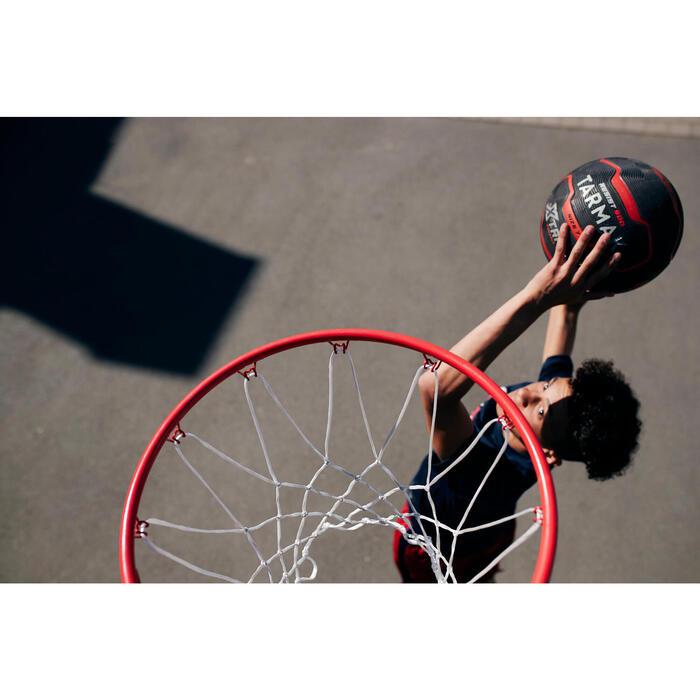 成人款7號籃球R900-紅黑配色,耐用又好抓握。