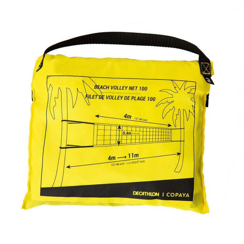 Red vóley playa BV100 WIZ NET amarillo